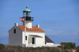 Old Point Loma Lighthouse after 2014 seismic upgrade with new roof.