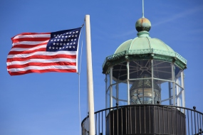 Tower and 38-star flag
