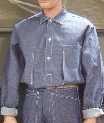 Denim Blue Fatigue Shirt