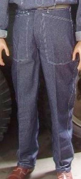 Denim Blue Fatigue Trousers