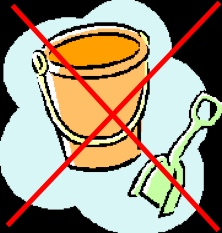 No buckets in tidepools