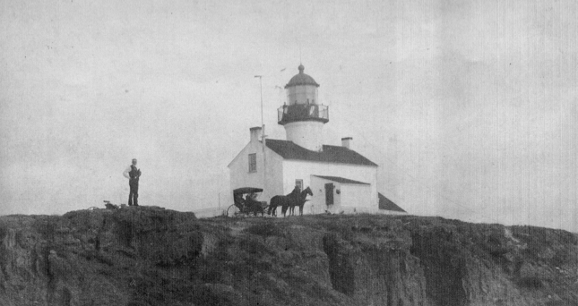 Old Point Loma Lighthouse in 1890's