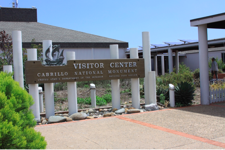 Historic Visitor Center Sign at Cabrillo National Monument