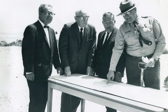 NPS Archives - Cabrillo Superintendent Thomas Tucker reviewing plans for Visitor Center