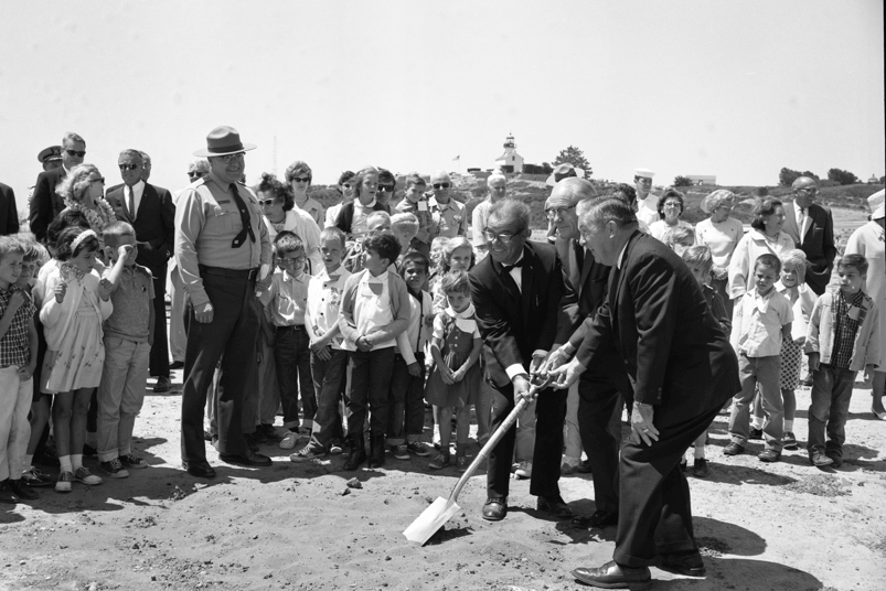 NPS Archives - Visitor Center Groundbreaking, 1964