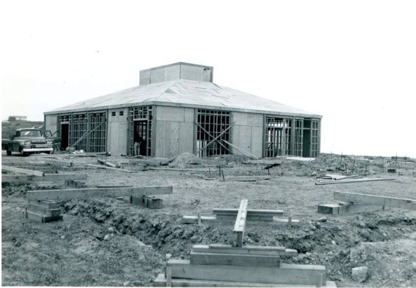 NPS Archives – Construction work on Visitor Center complex, 1964
