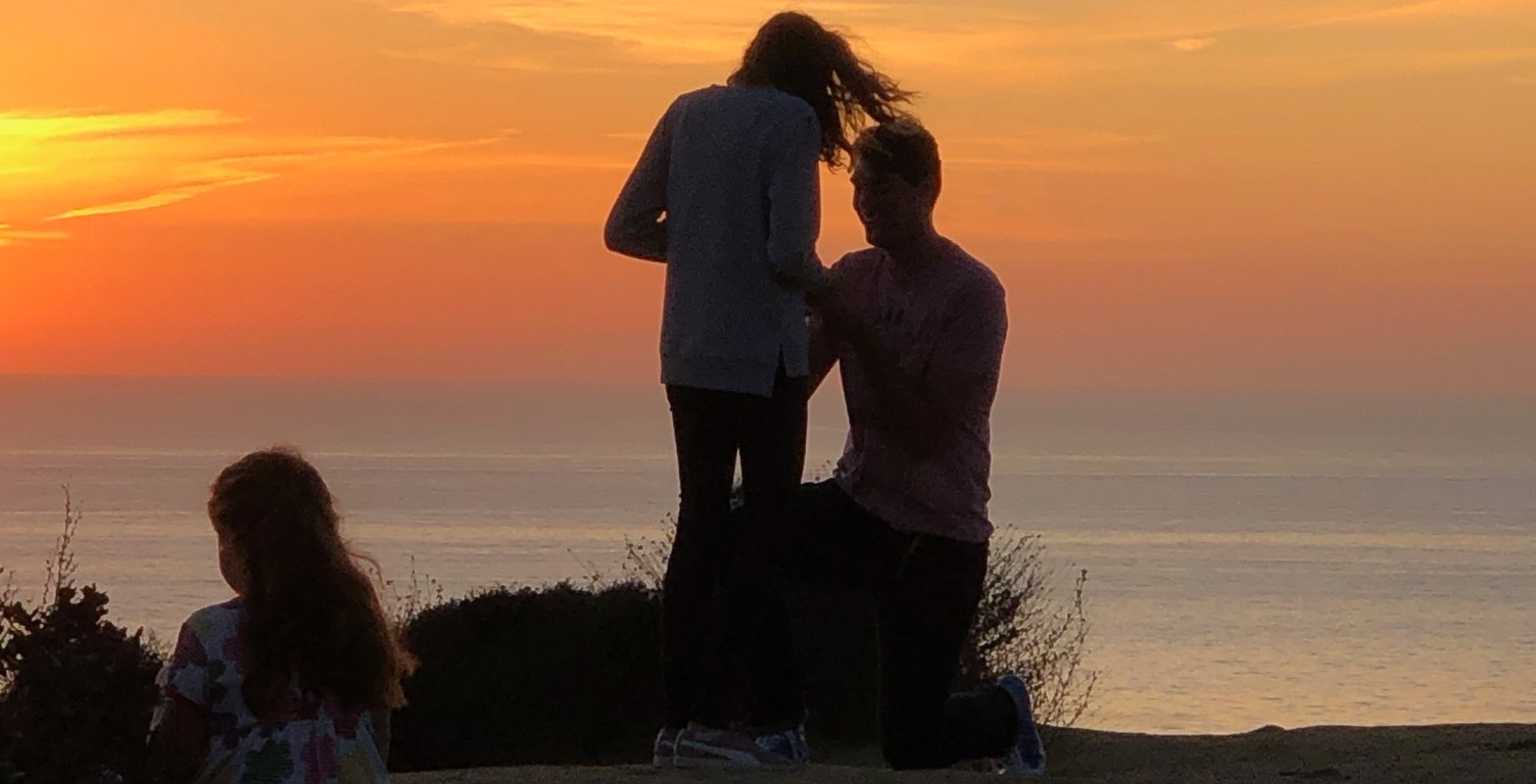 A Marriage proposal at Cabrillo