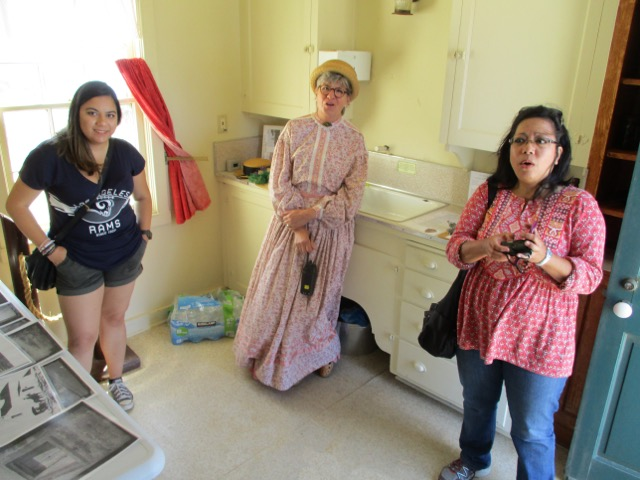 Visitors learning about the Lighthouse from VIP in period clothing