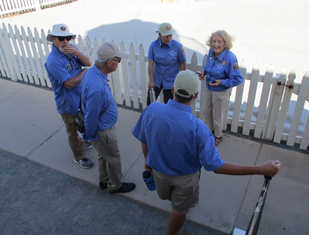 Volunteers helping at Open Tower Day