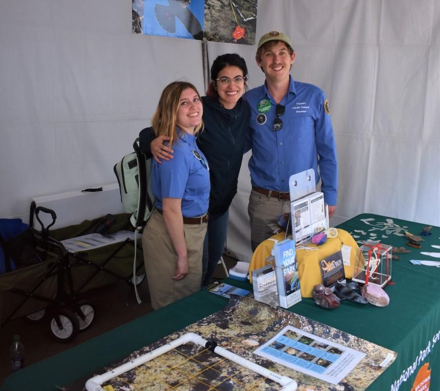 IAPs Brooke Wilder and Wyler Svoboda with CVA Setareh Nouriboshehri at the San Diego Festival of Science and Engineering.