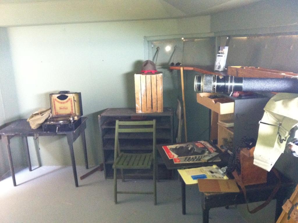 A room showing various World War II equipment.