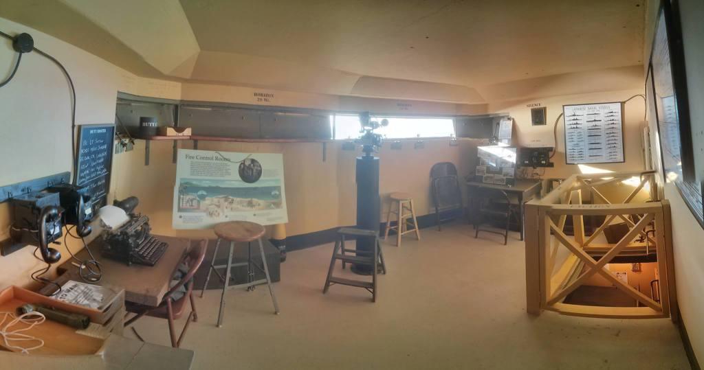 A room showing various World War II equipment