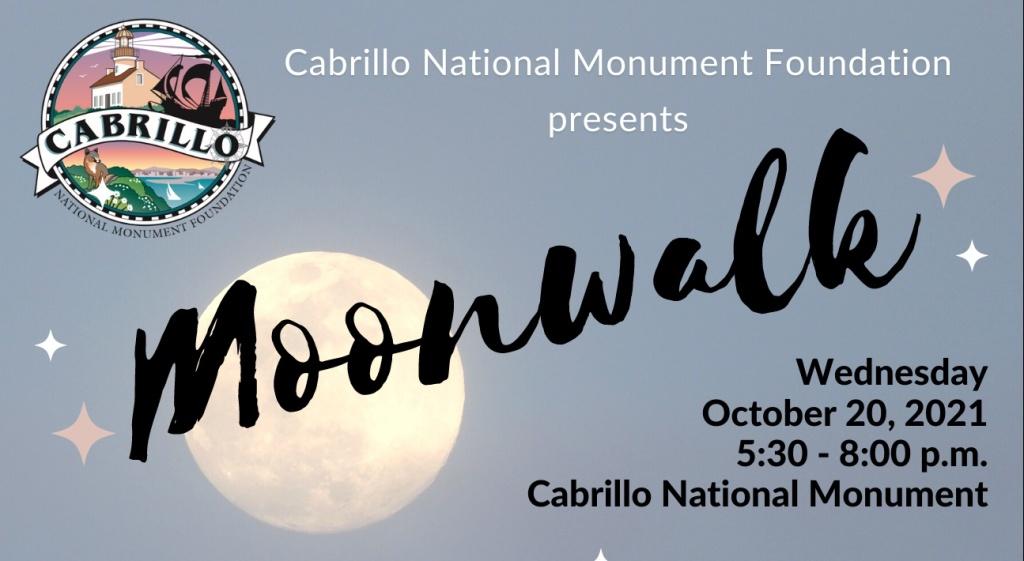 A full moon against a light blue background. Moonwalk is written diagonally across the moon.
